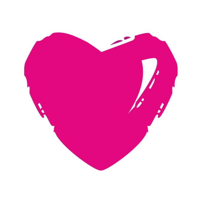 corazon logo rosa